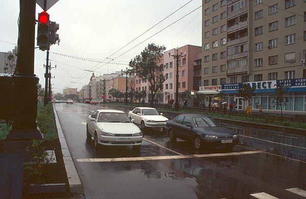 Automobilový provoz v Chabarovsku