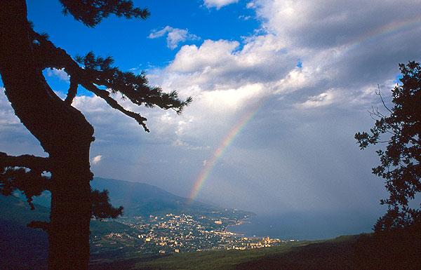 Jalta, duha a Černé moře