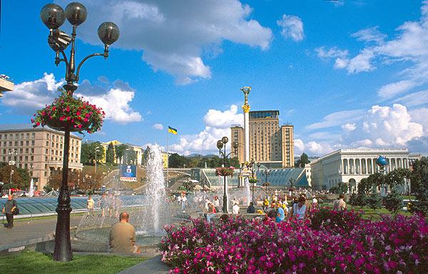 Kyjev - náměstí Nezávislosti