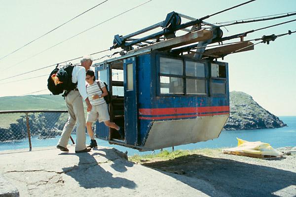 Kabina lanovky na ostrov Dursey