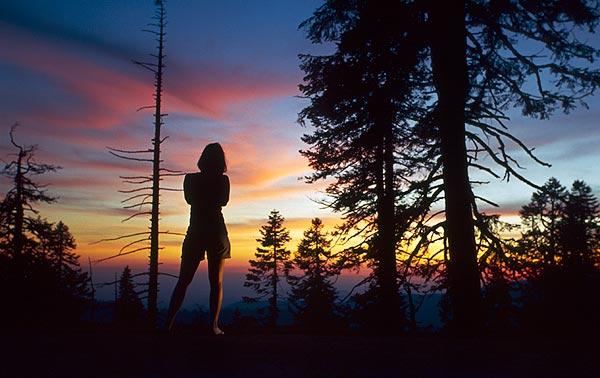 Sierra Nevada po západu slunce