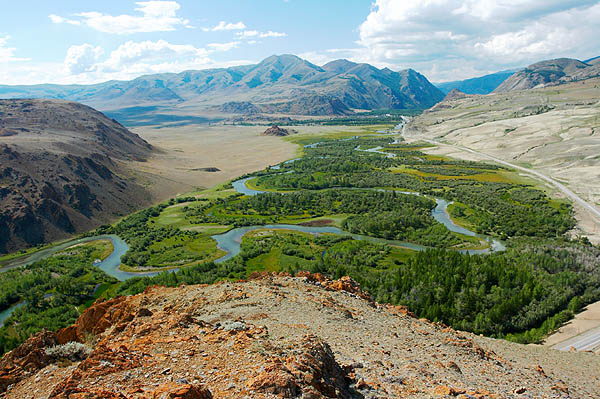 Meandry řeky Čuja
