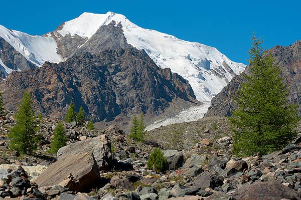 Závěr doliny Aktru, Altaj