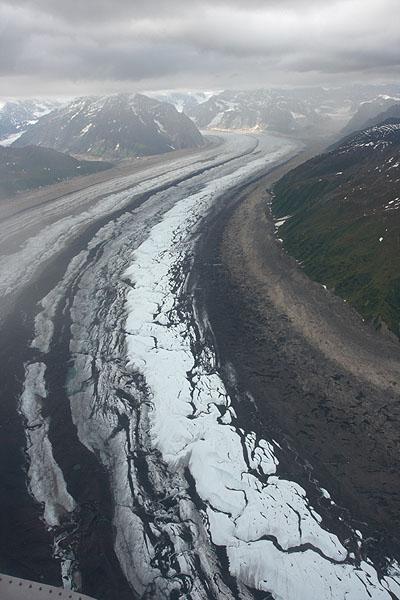 Údolní ledovec Ruth Glacier