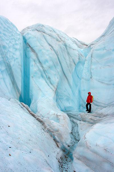 Turista na ledovci