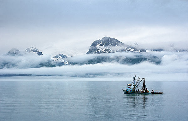 Mlhy nad Prince William Sound