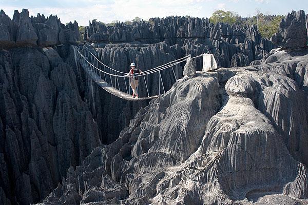 Lanový most přes soutěsku