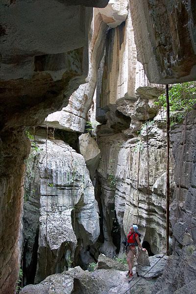 Jeskyně v hloubi skal