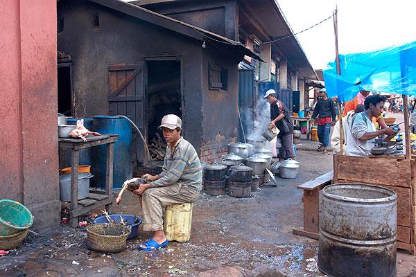 Kuchyně jídelny na tržišti