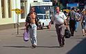 Muži na pěší zóně v Irkutsku