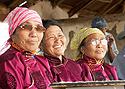 Mongolské ženy se dobře baví