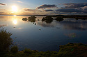 Západ slunce nad Mývatn