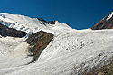 Vrchní část ledovce Velký Aktru