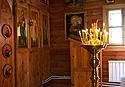 Interiér pravoslavného kostelíku