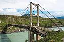 Starý visutý most v Ině