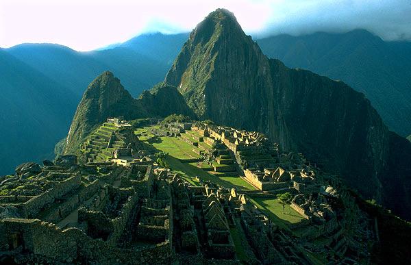Pohled k hoře Huayna Picchu