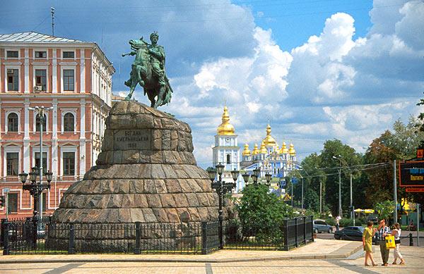 Sofijské náměstí a Bohdan Chmelnický