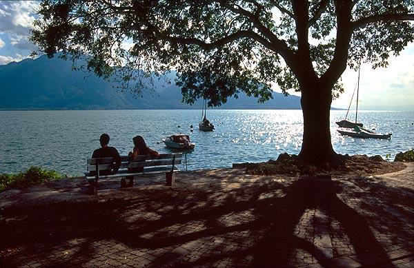 Ženevské jezero v Montreux