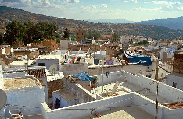 Střechy městečka Chefachaouen