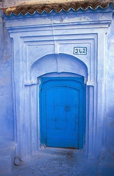 Dveře v Chefchaouenu