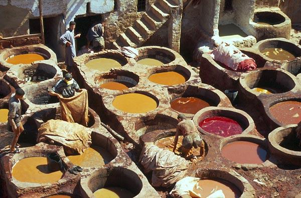 Koželužny ve Fés el Bali