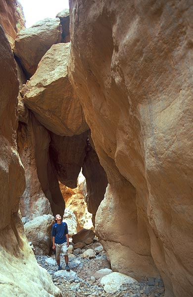Ve skalní soutěsce Nomad Gorge