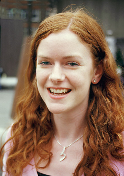 Zrzavá irská dívka