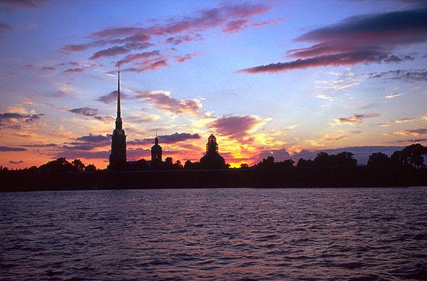Petrohrad - západ slunce
