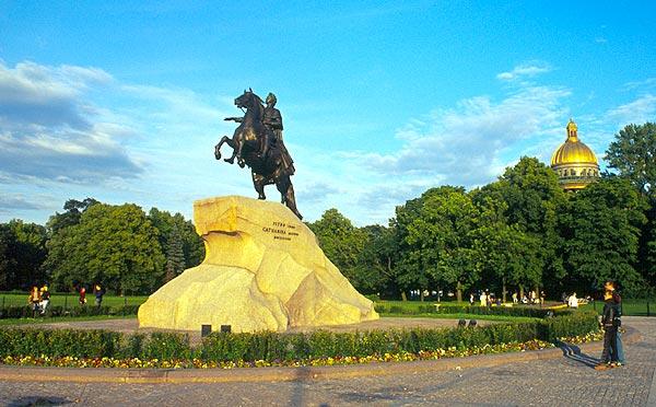 Měděný jezdec - socha Petra Velikého