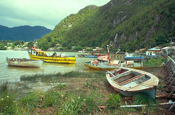 Caleta Tortel - přístav