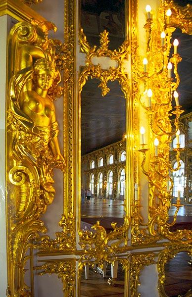 Zlatá výzdoba Kateřinského paláce
