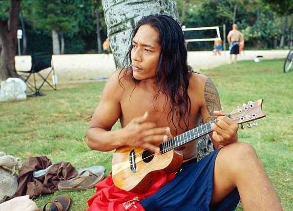 Havajský hráč na ukulele