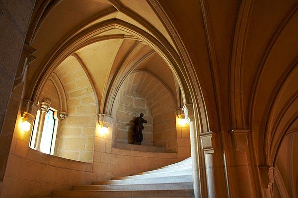 Schodišťová věž, gotické klenby