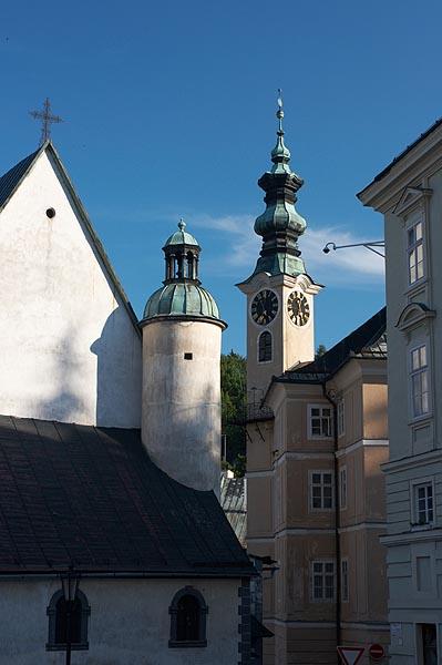 Věže kostela sv. Kataríny a radnice