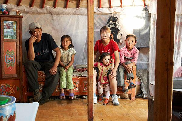 Obyvatelé mongolské jurty