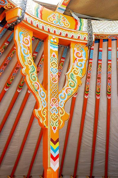 Sloupek nesoucí střechu jurty