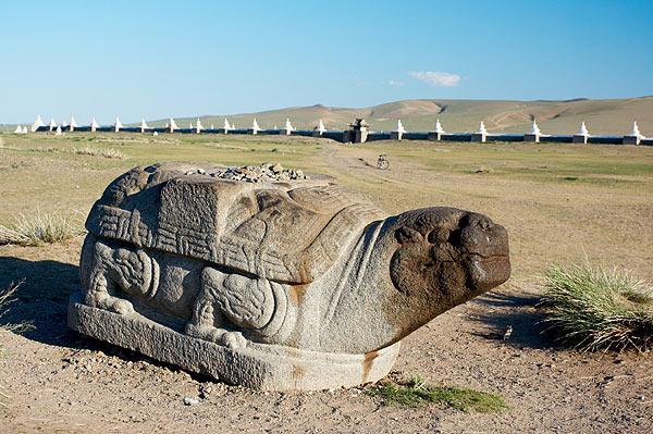 Kamenná želva z Karakorum