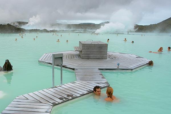 Koupel v Modré laguně