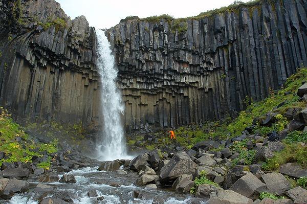 Svartifoss - černý vodopád