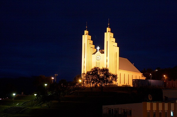Akureyrarkirkja čili kostel v Akureyri