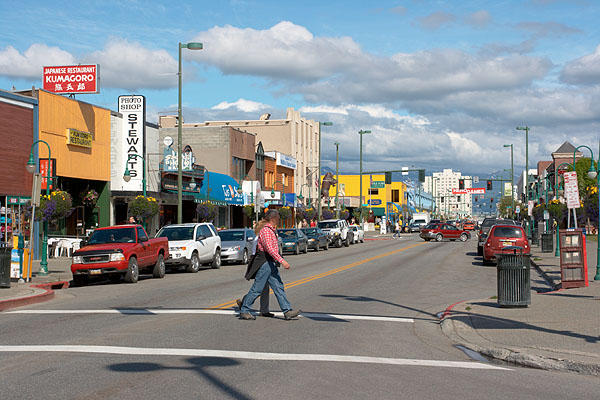 Anchorage, hlavní ulice