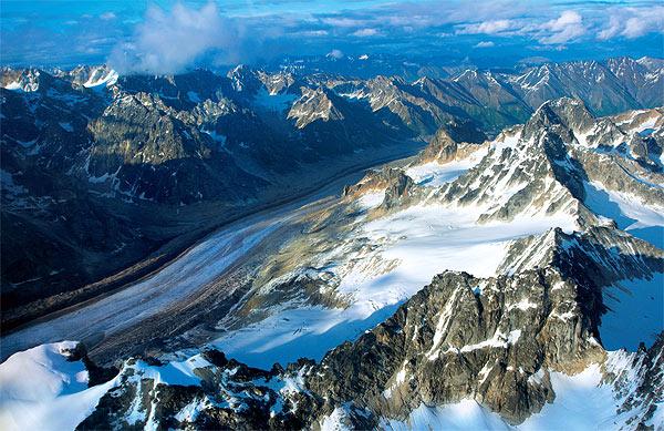 Přelet nad Alaska Range