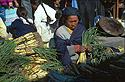 Prodavačka pórku, trhy v Otavalu