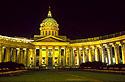 Noční Kazaňský chrám