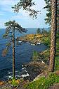Ostrov Valaam - skalnaté pobřeží
