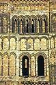 Detail věže katedrály v Durhamu