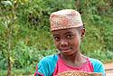 Malgašská dívka ve slamáku